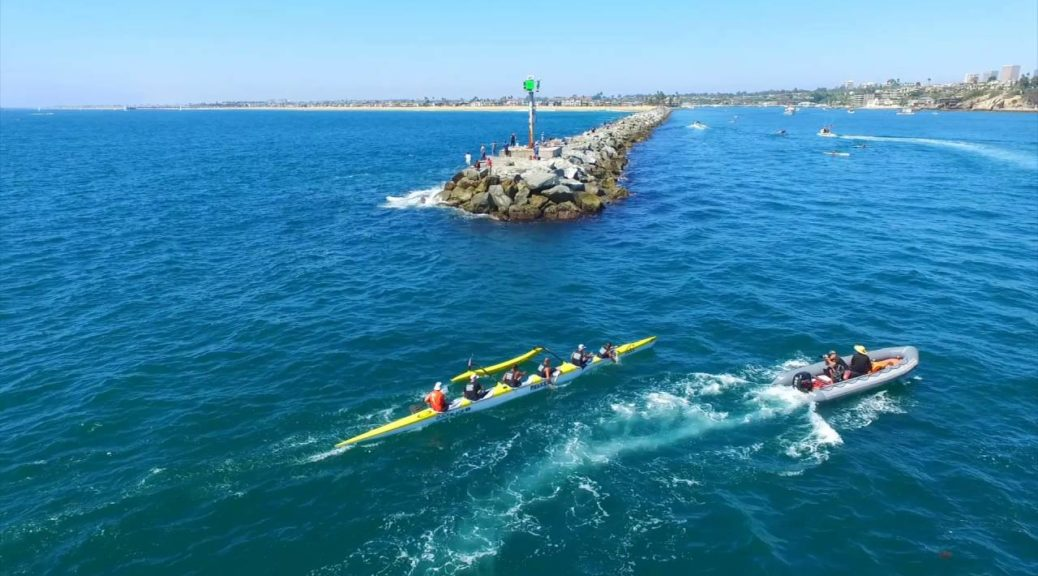 2016-Catalina-Crossing-Outrigger-Canoe-Race-Drone-Aerial-View-SCORA-Newport-Beach-CA